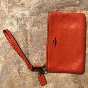 Coach pebbled-leather wallet
